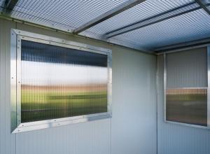 Raam en doorvlieggat van buitenvlucht aluminium volière